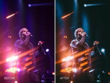 5.Magenta Fire- Merrick Winter Live Music Lightroom Presets - FilterGrade