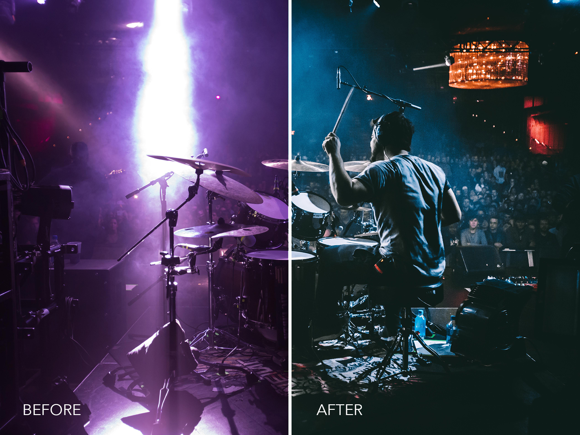3.Purple to Blue - Merrick Winter Live Music Lightroom Presets - FilterGrade