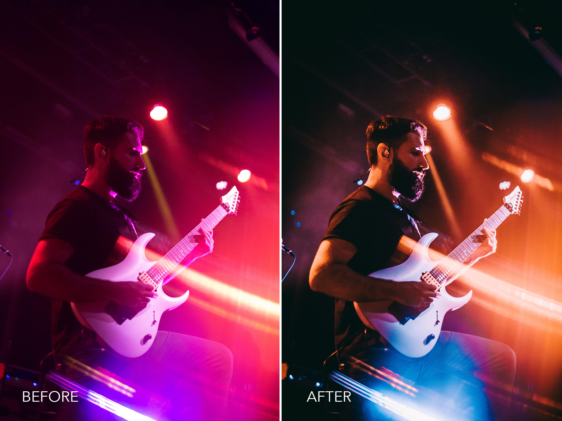 1.Magenta to Orange - Merrick Winter Live Music Lightroom Presets - FilterGrade
