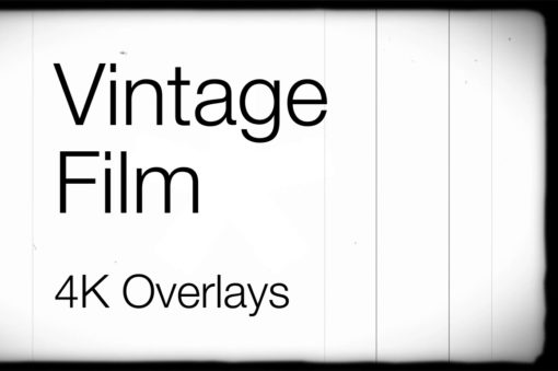 4K vintage film video overlays