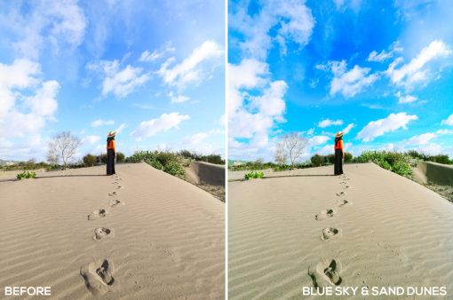 Blue Sky & Sand Dunes - Samuel Silitonga Jr. Lightroom Presets - FilterGrade