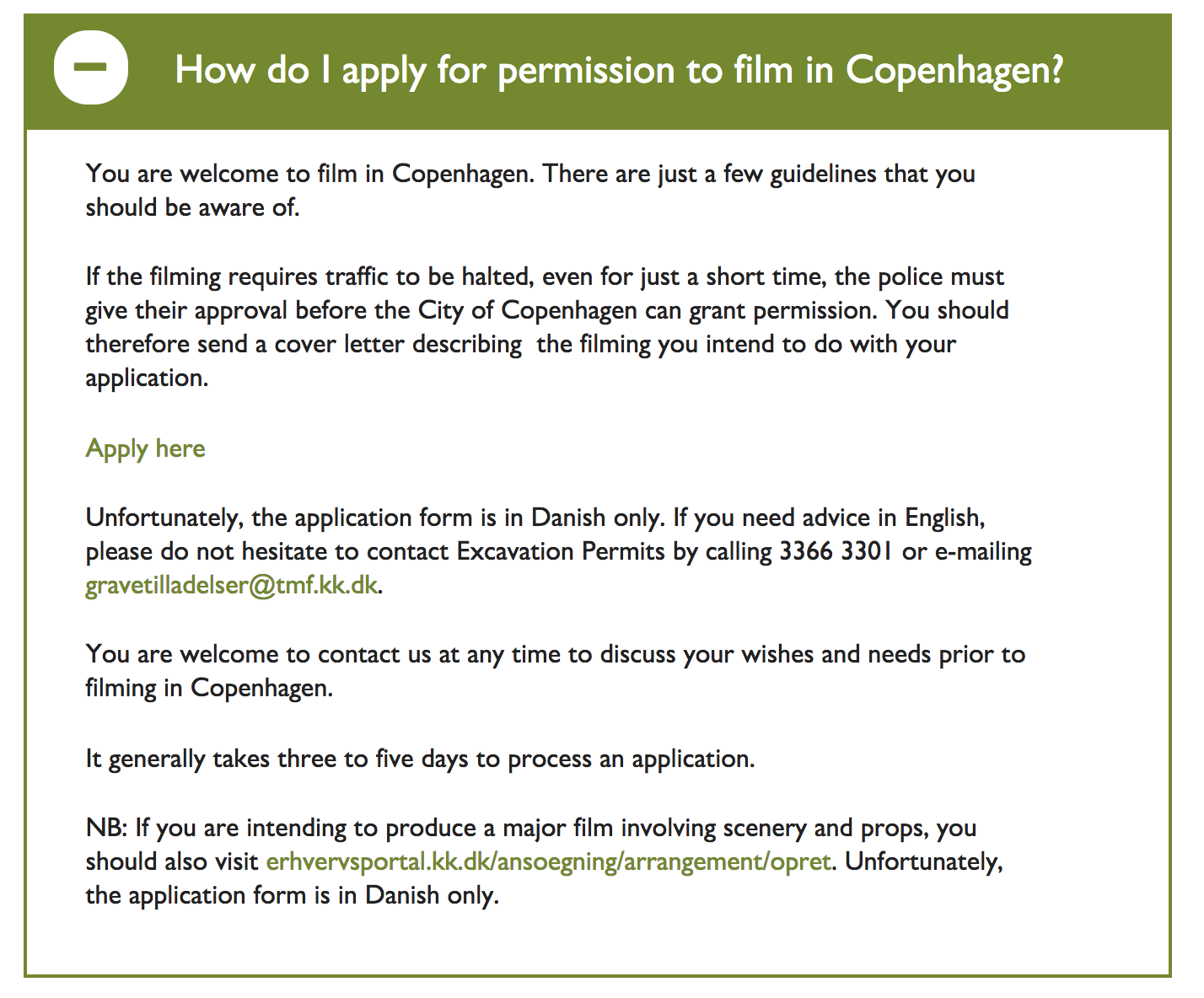 copenhagen film permit application process