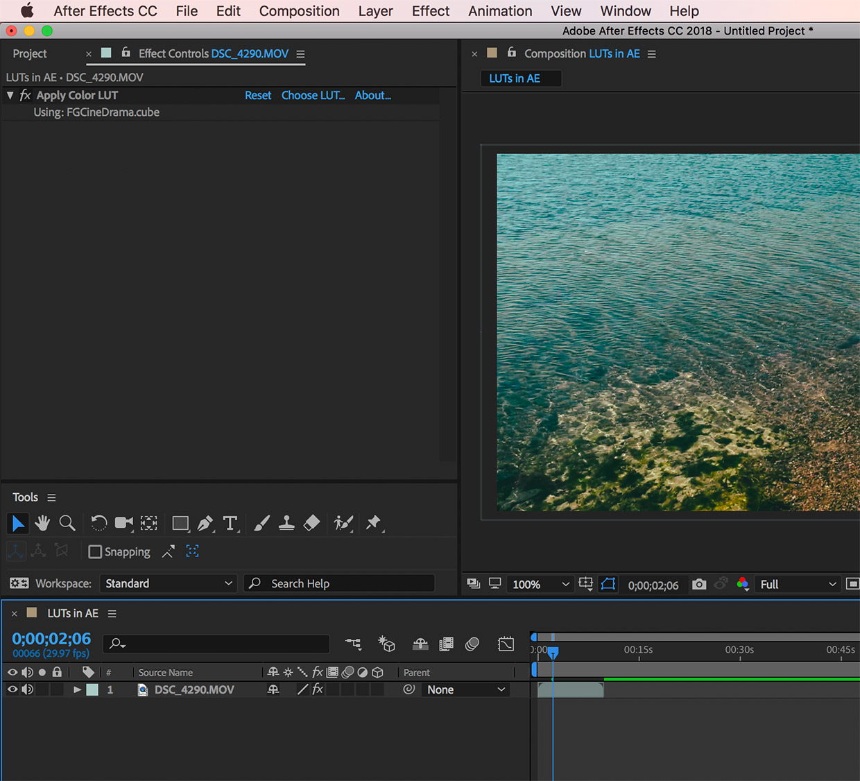 using luts in after effects