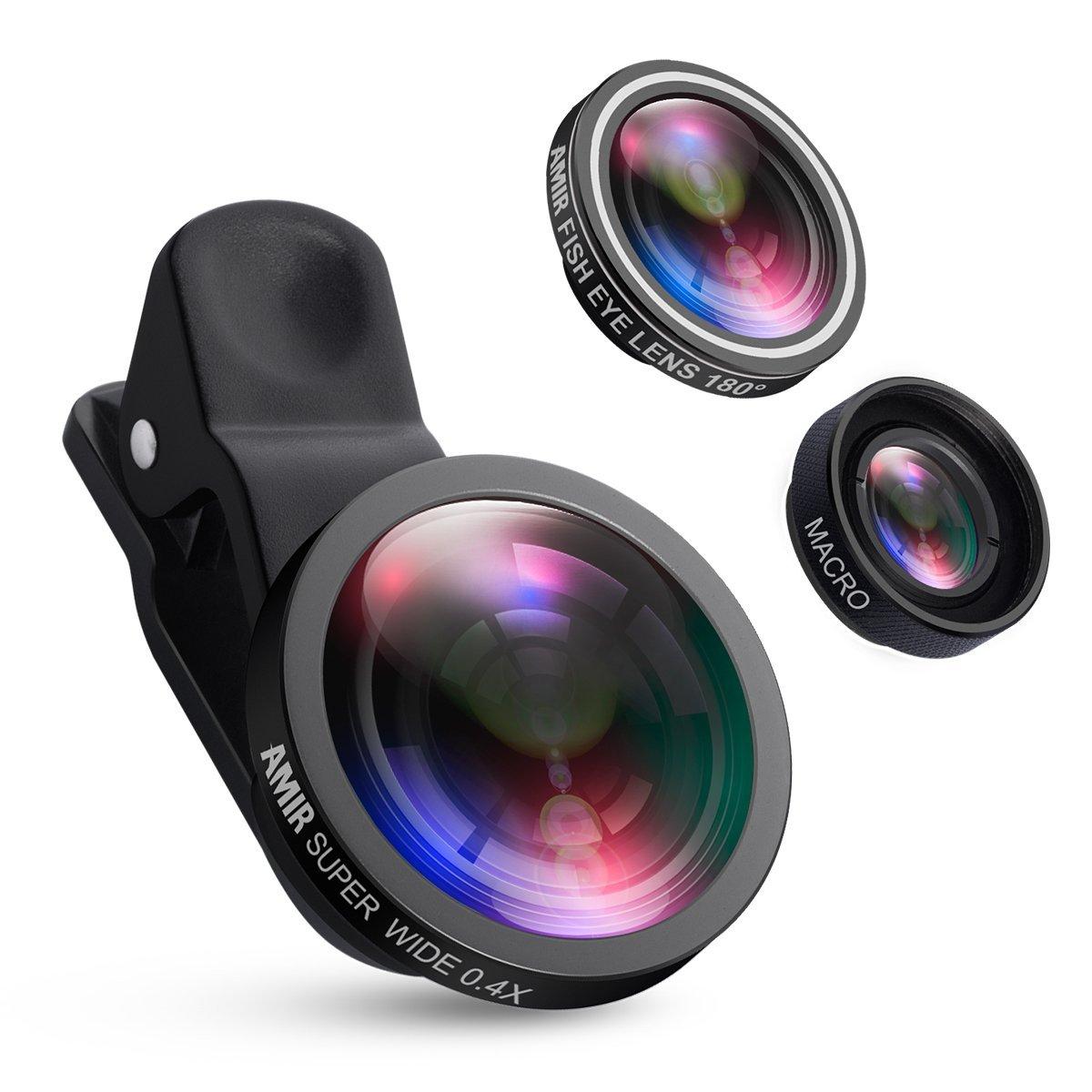 amir mobile camera lens clip on