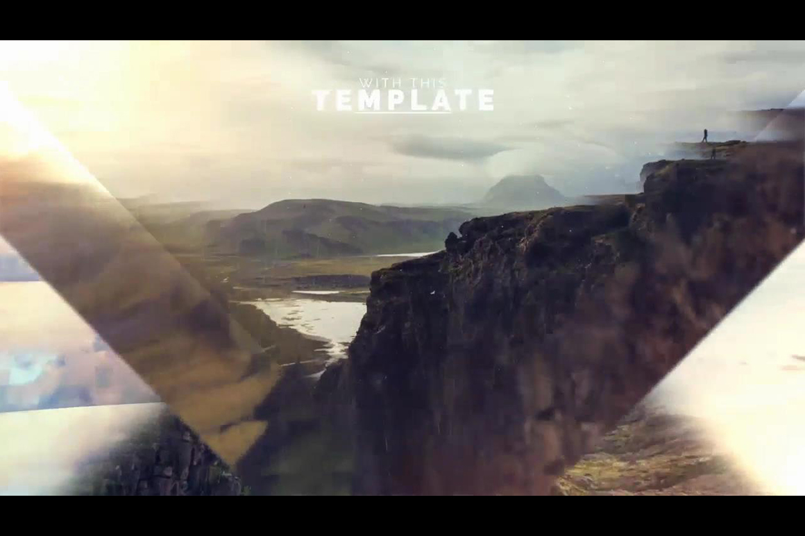 after effects template slideshow with parallax image effects
