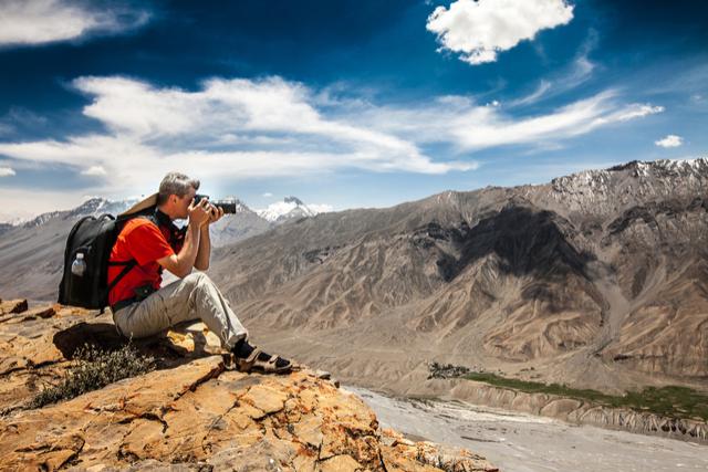 photographer traveling