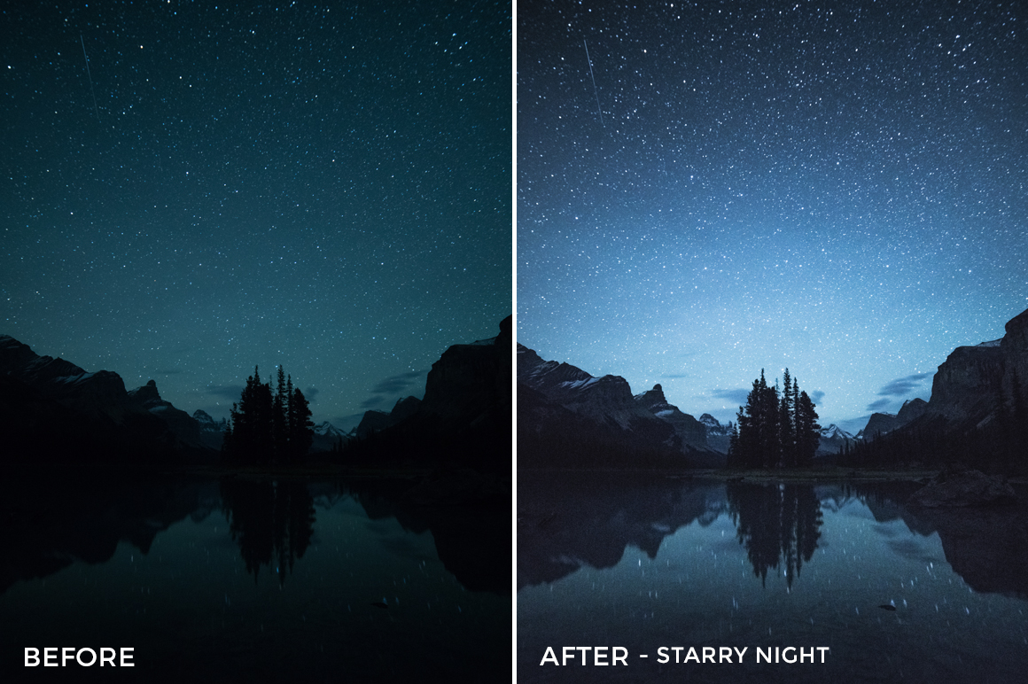 Starry Night - Catherine Simard Lightroom Presets - FilterGrade