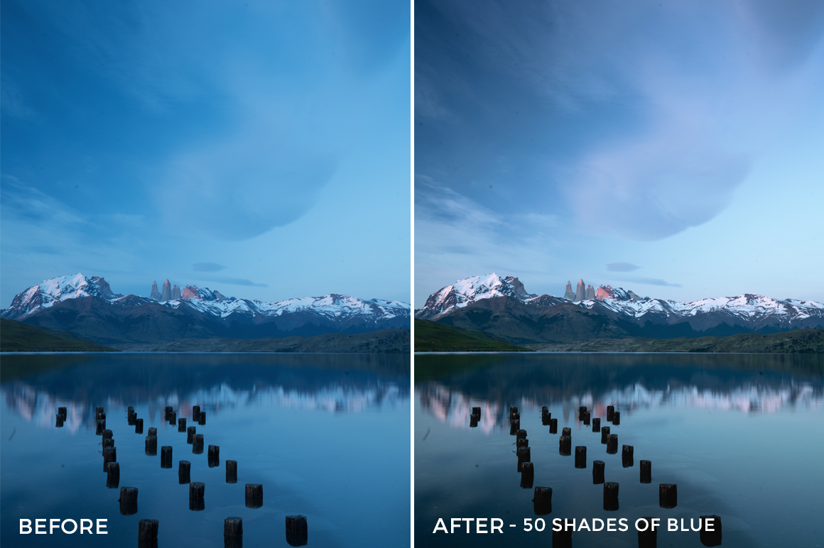 50 Shades of Blue - Catherine Simard Lightroom Presets - FilterGrade