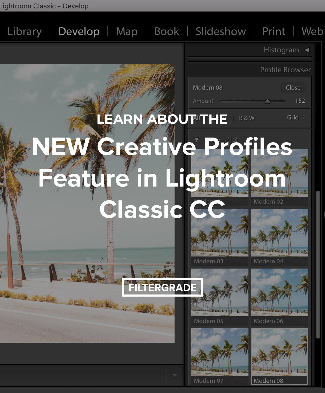 New Creative Profiles feature in Lightroom Classic CC