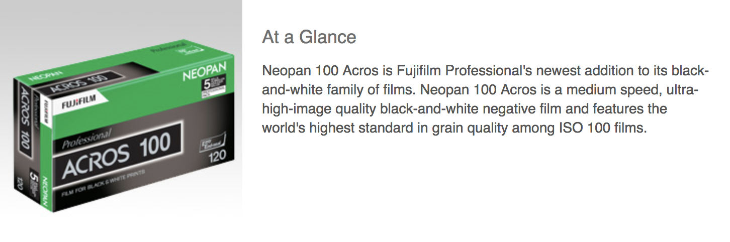 1 Fuji Neopan 100 Acros to Be Discontinued in October 2018, Report Says - FilterGrade