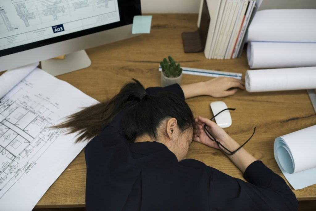stressed freelancer
