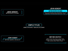 minimal title animations after effects template