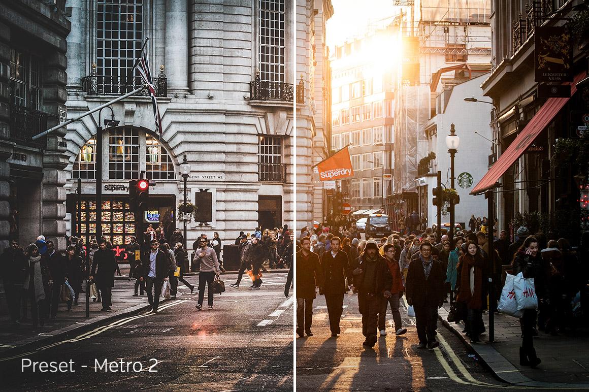 Metro 2 - Exposure Empire Urban Heat Lightroom Presets - FilterGrade