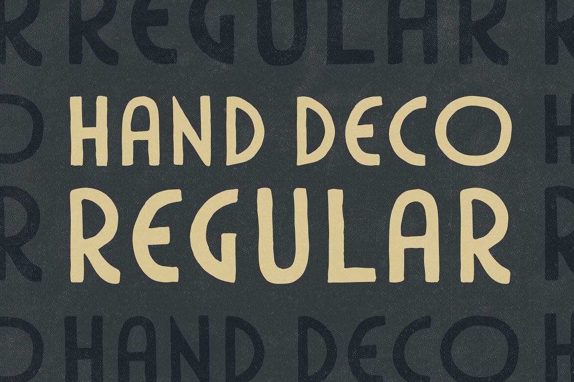 handdeco regular font from gerren lamson
