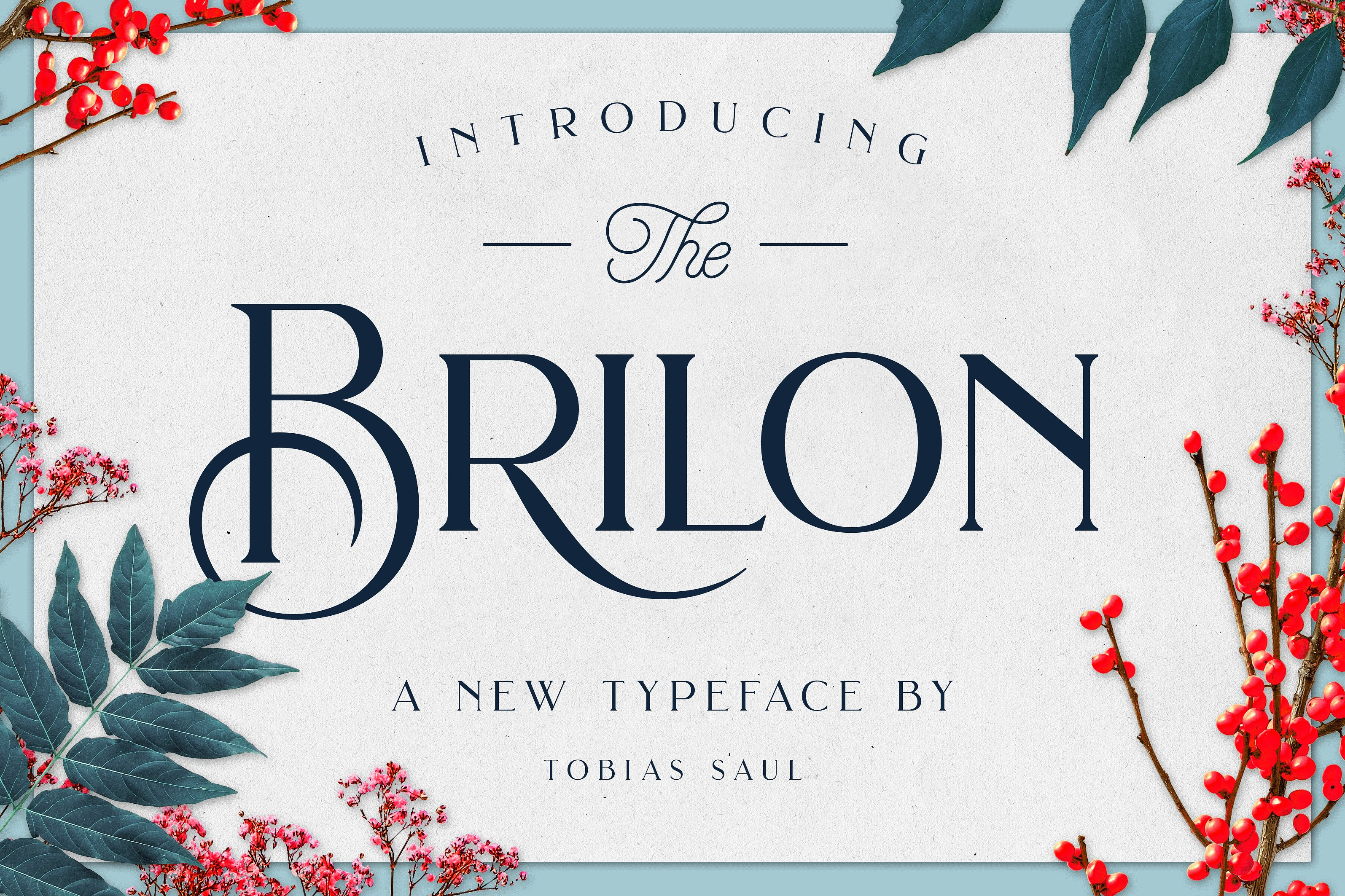 brilon art deco font