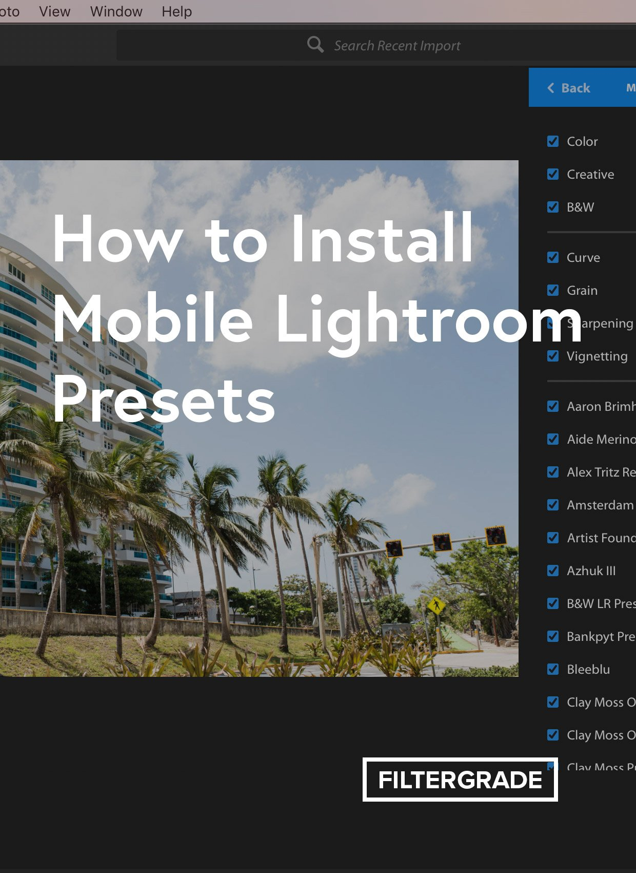 How to Sync Presets from Lightroom Classic to Lightroom CC