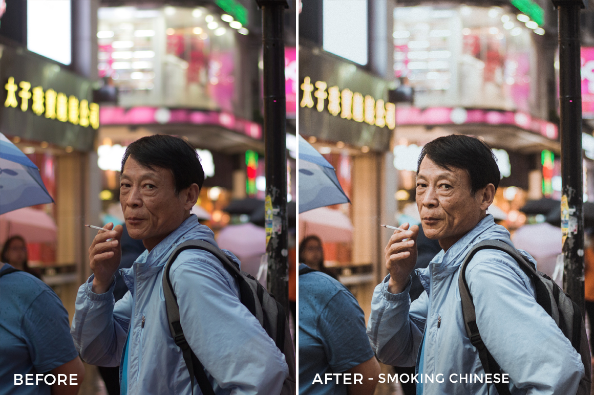 Smoking Chinese - Dmitry Kirzhaev Hong Kong Lightroom Presets - FilterGrade