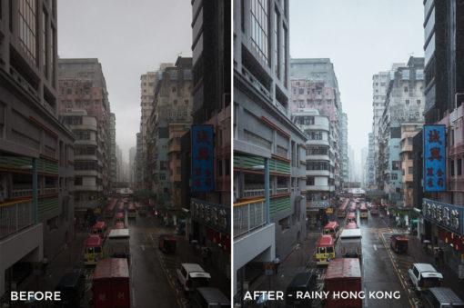 Rainy Hong Kong - Dmitry Kirzhaev Hong Kong Lightroom Presets - FilterGrade