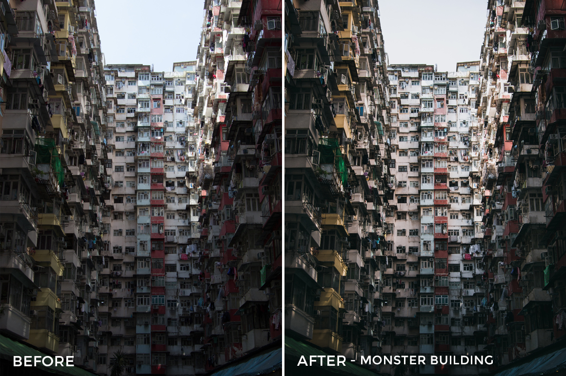 Monster Building - Dmitry Kirzhaev Hong Kong Lightroom Presets - FilterGrade