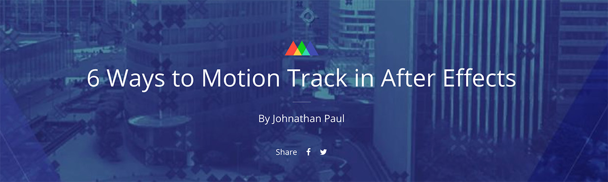 after effects motion tracking guide