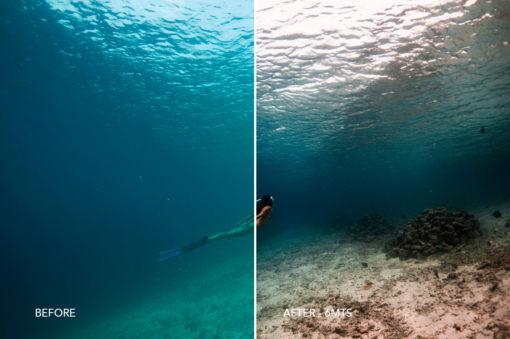 freediving lightroom presets for underwater photos