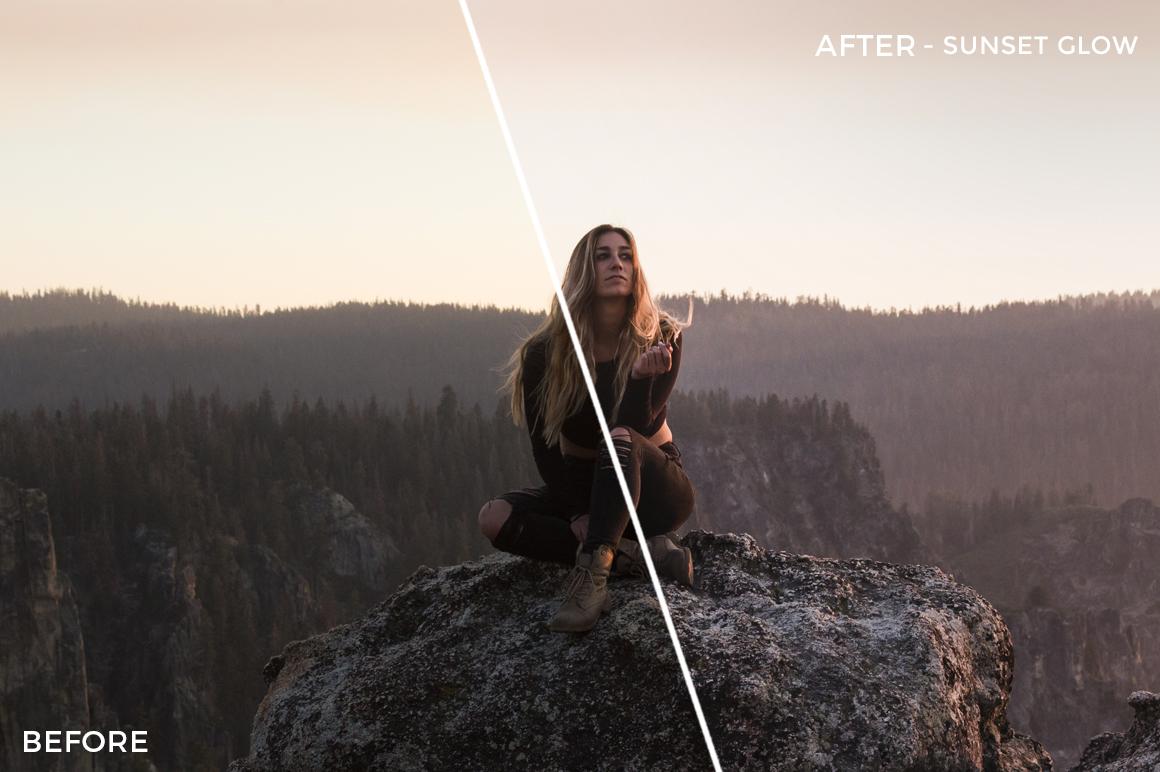 Sunset Glow - Rocky Pines Summer Lightroom Presets - FilterGrade