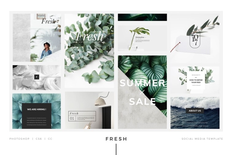 Free Social Media Templates and Mockups for Photoshop