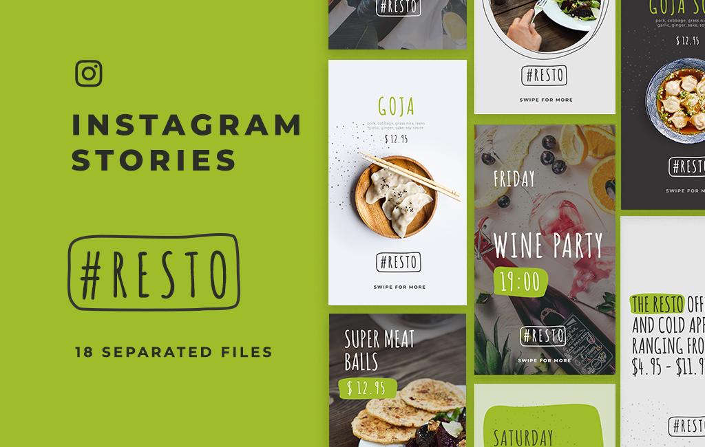resto free instagram stories template
