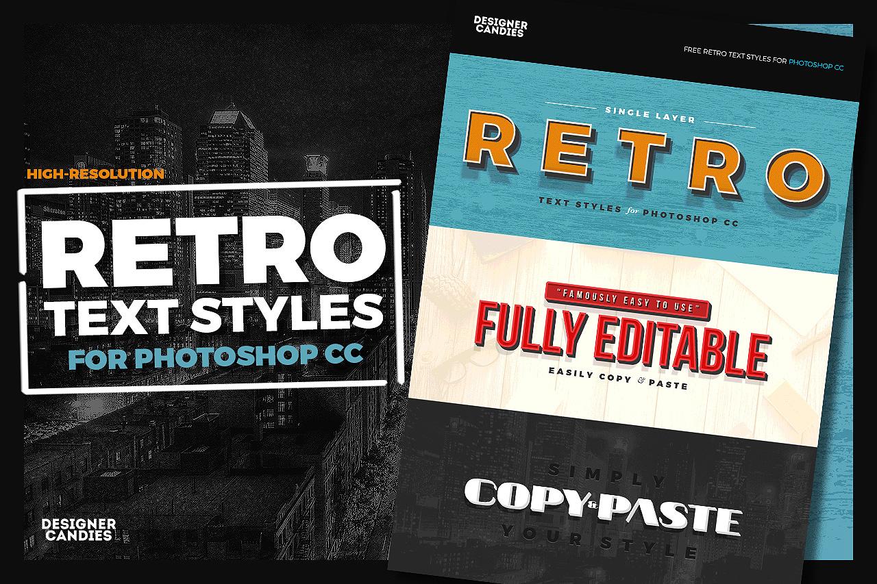 free retro ps styles