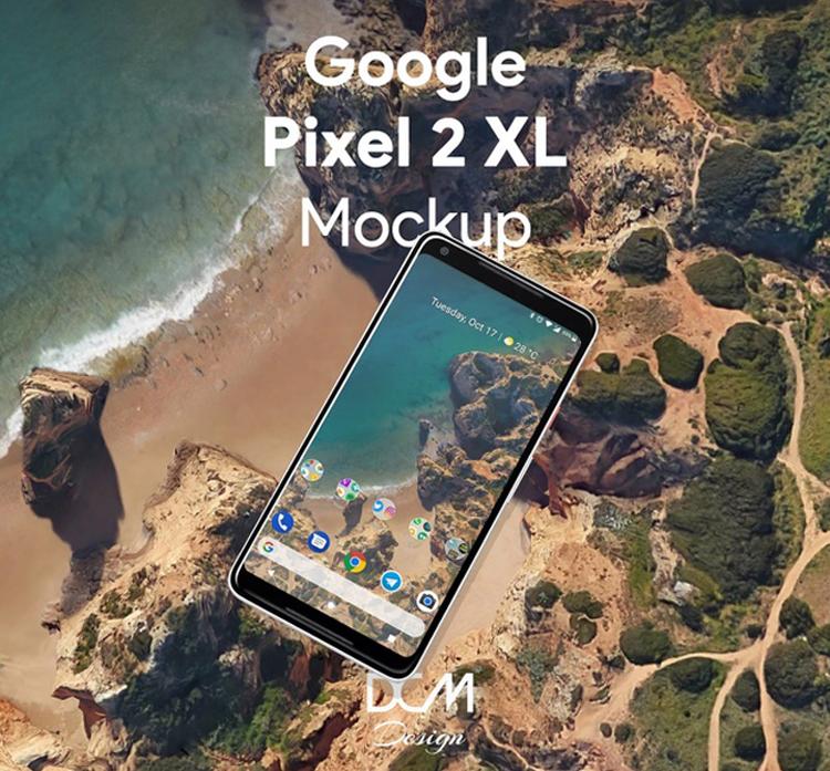 google pixel mockup