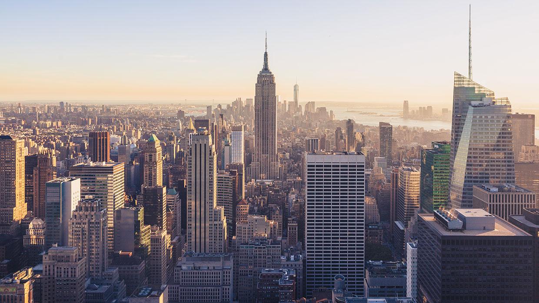 new york city aerial skyline photo