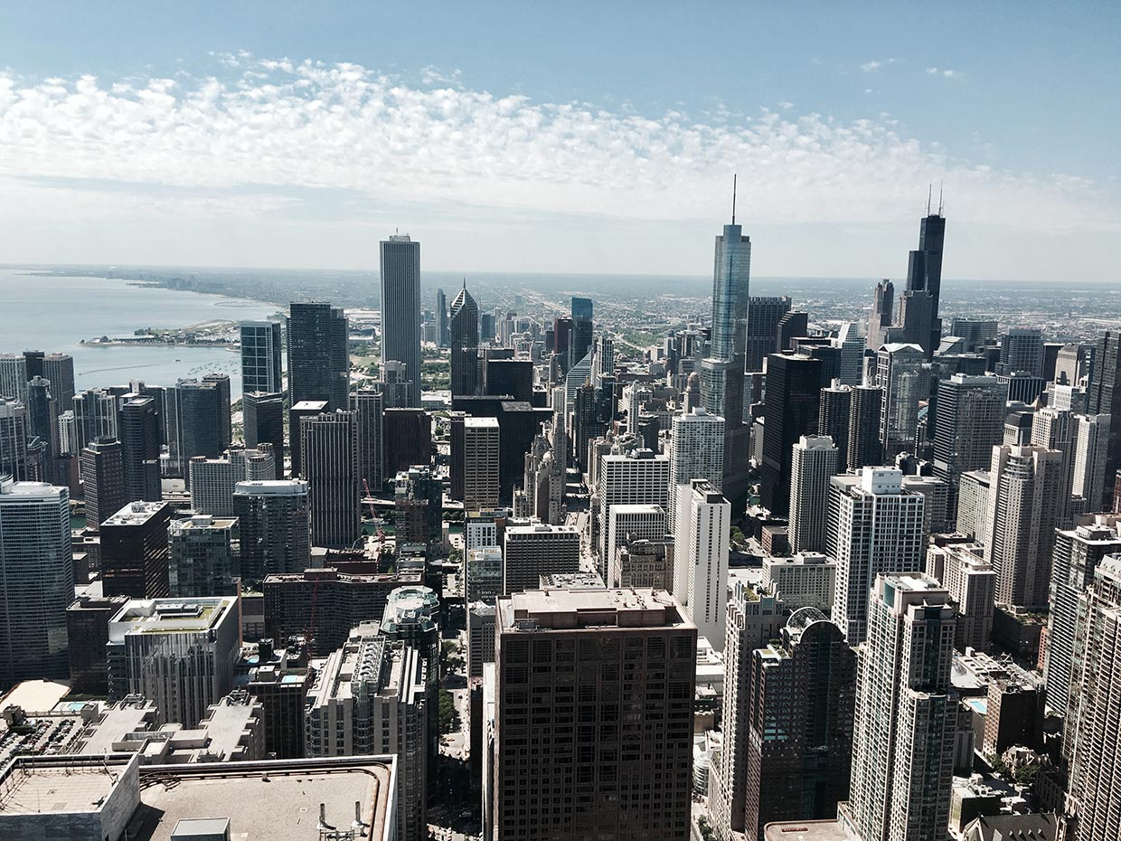 Chicago cityscape - taken from the 360 Chicago viewing tower by Markus Leo