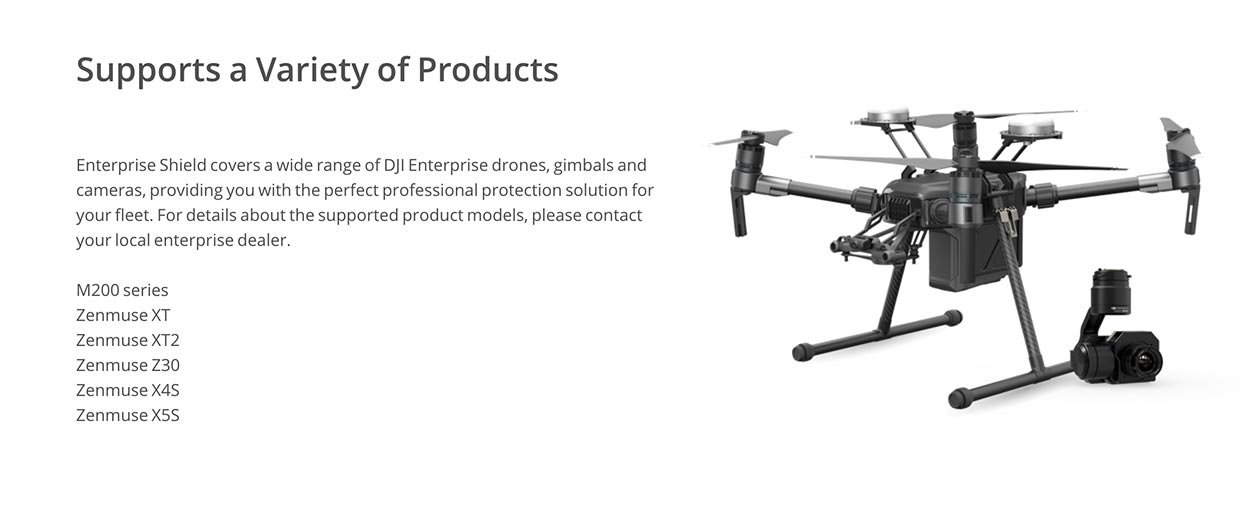 dji enterprise shield supported products