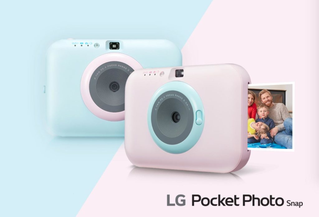 LG Pocket Photo Snap Camera Printer Device