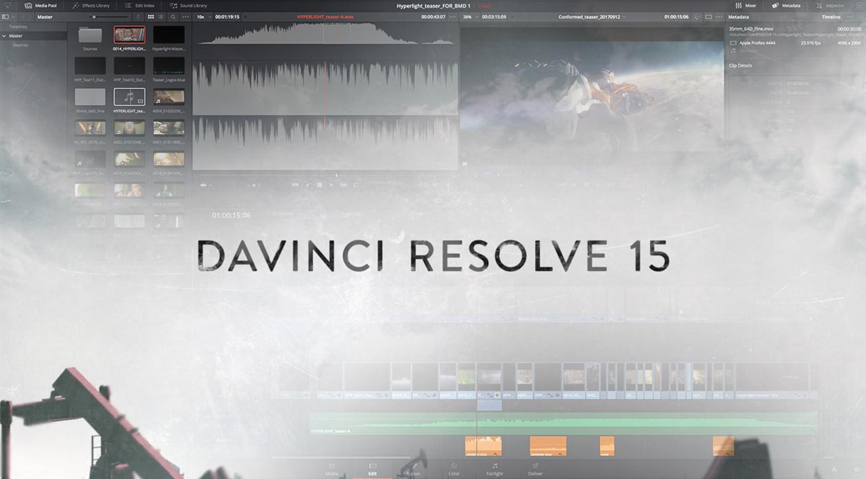 Davinci Resolve 15 new release from Blackmagic Design