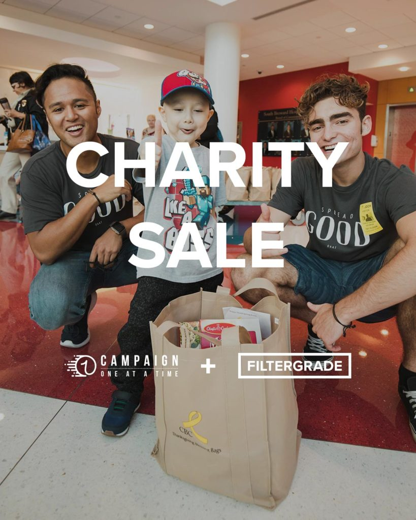 Campaign OAAT Charity Sale with FilterGrade