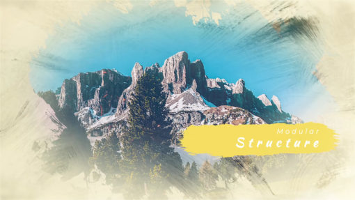 paint strokes slideshow presentation after effects template