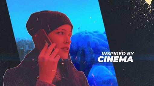 cyber punk opener cinema style template