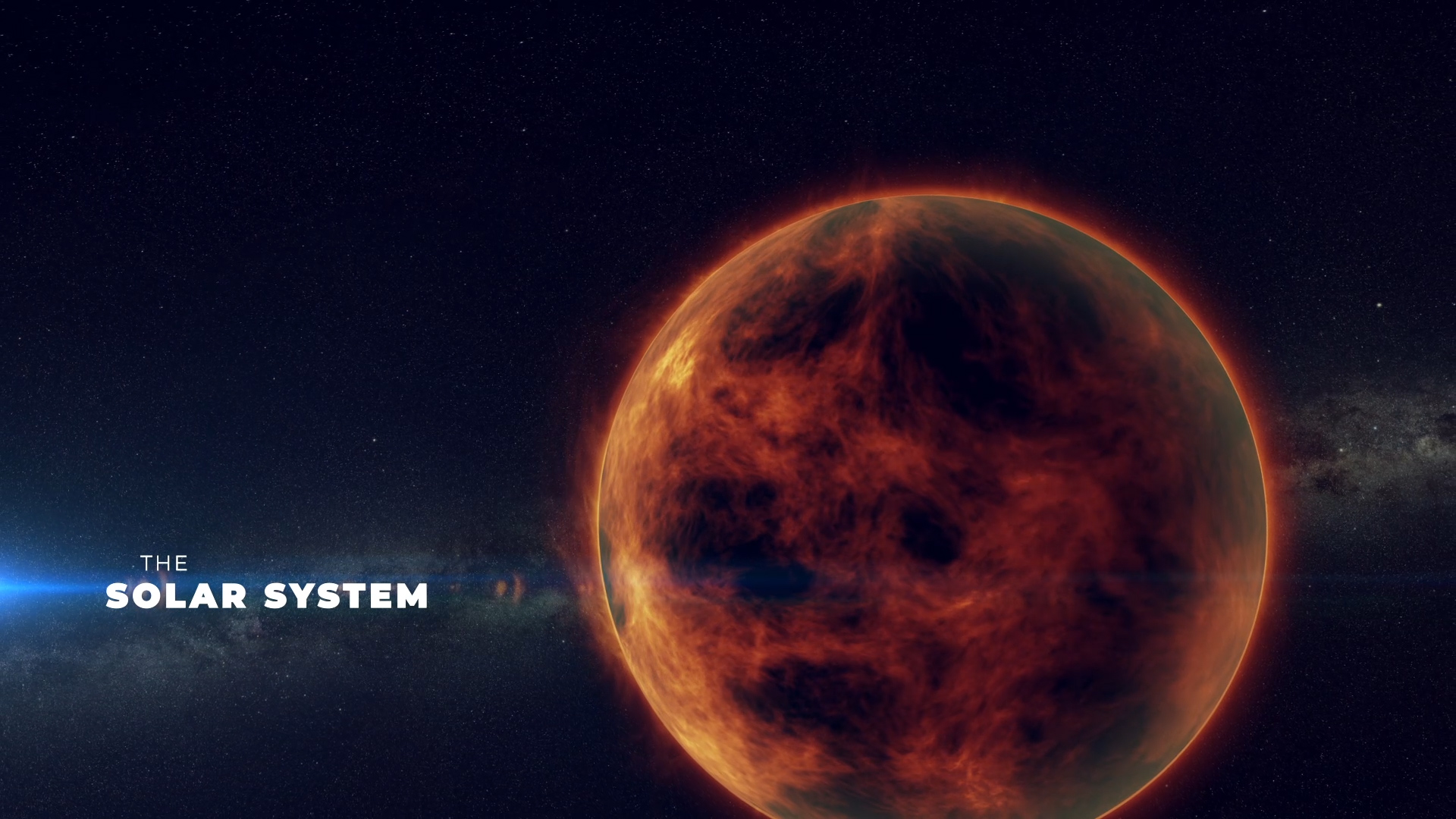 Solar System Video After Effects Template