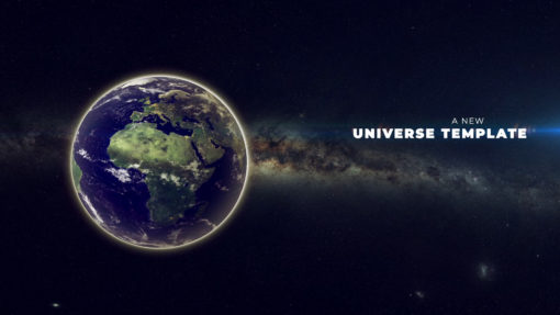 universe video template ae