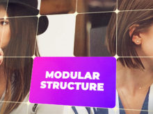 modular style video marketing opener template
