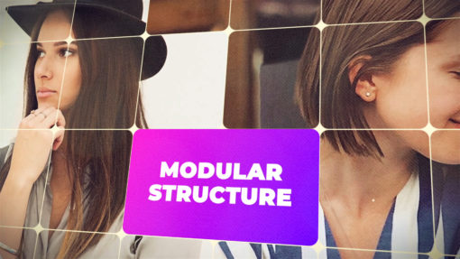 modular style video marketing opener template