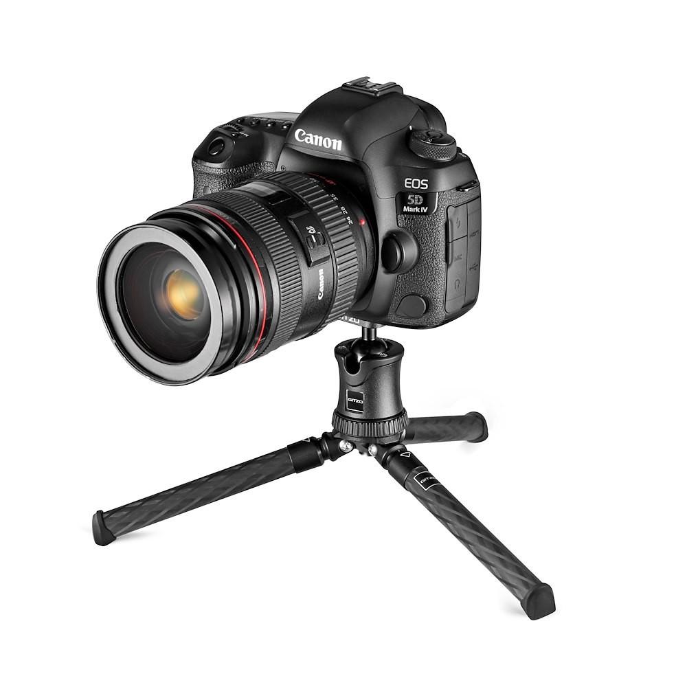 gitzo mini traveler with canon camera
