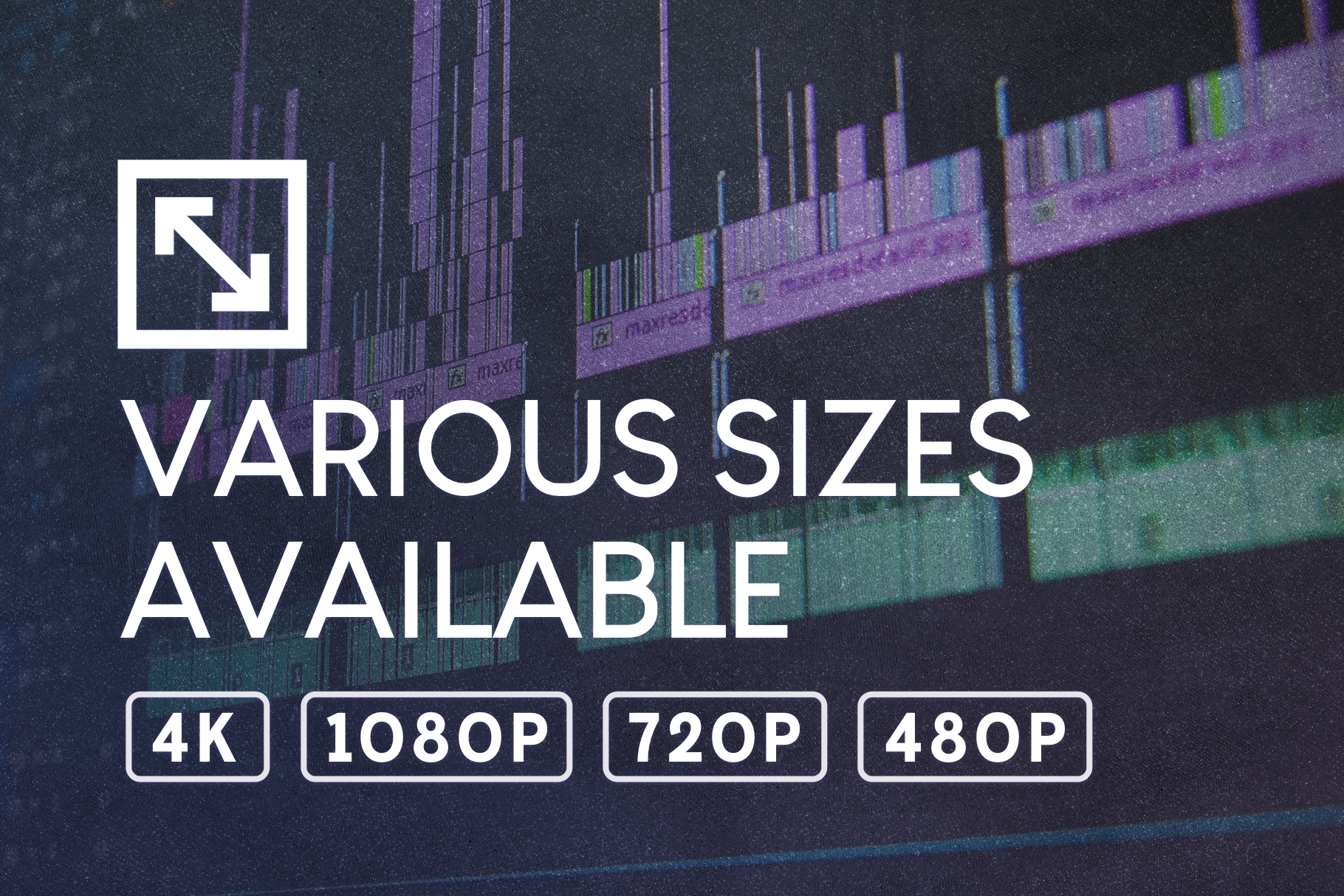 film grain overlays sizing for video production