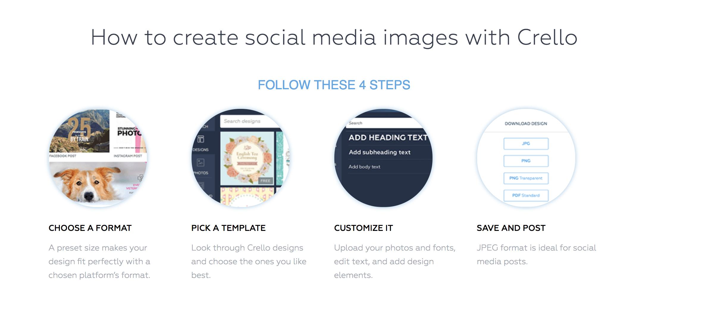 crello templates online image editor