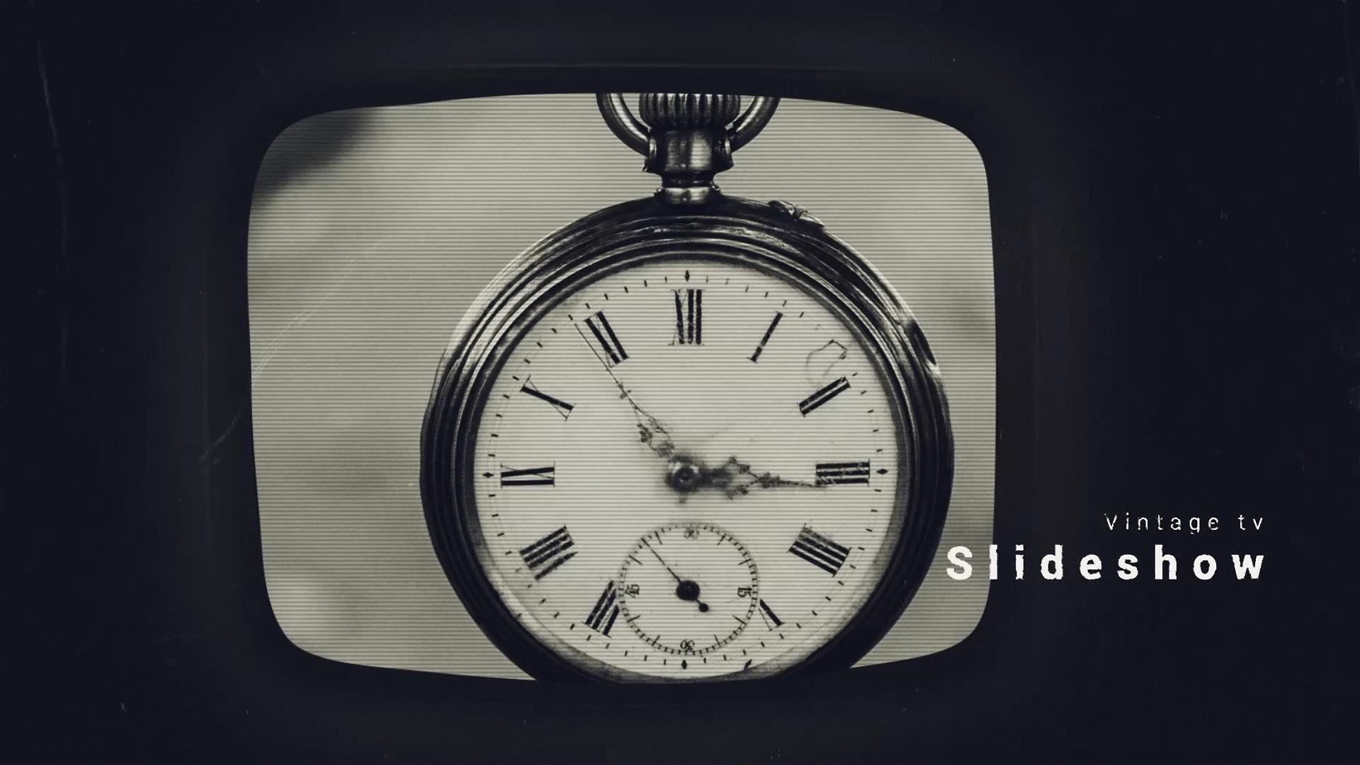 vintage tv film slideshow ae template