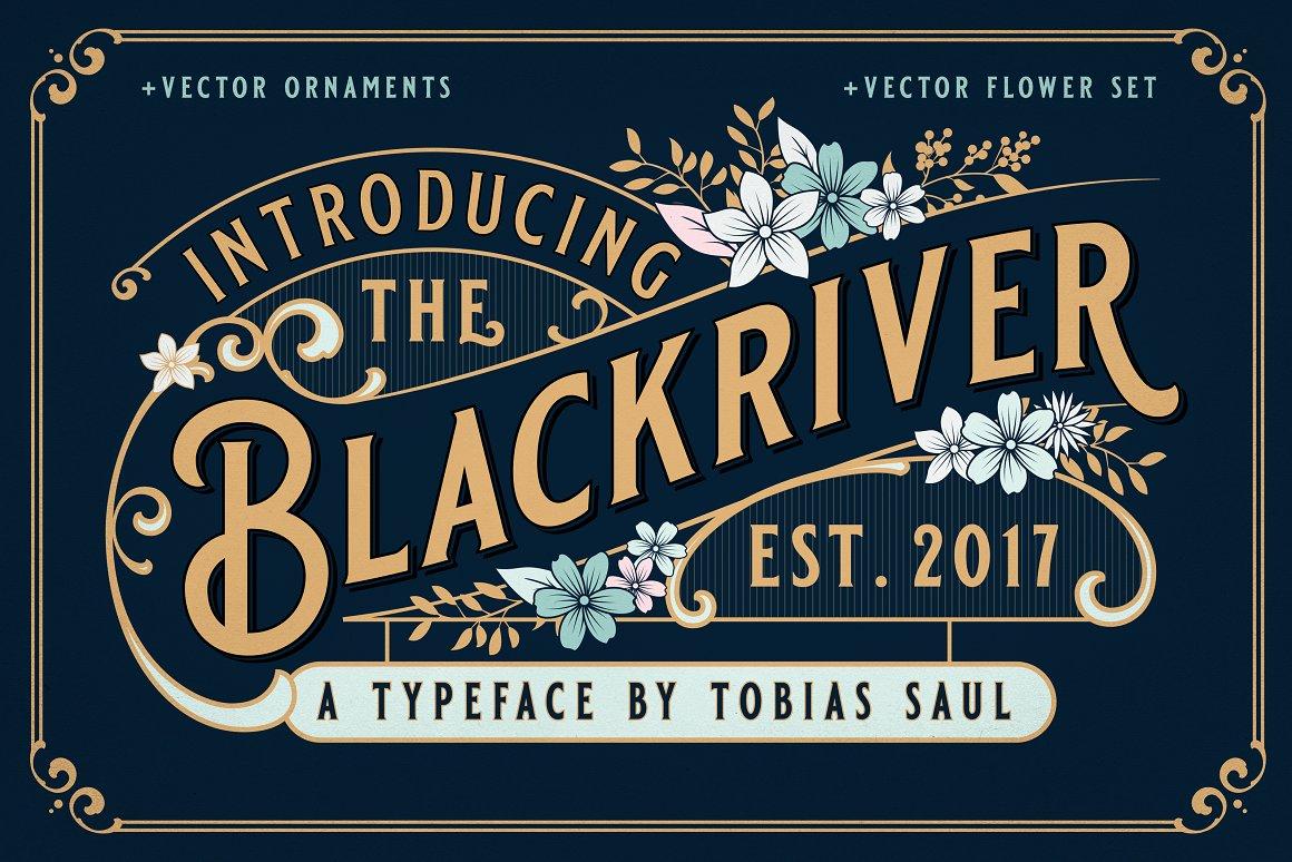 blackriver block font