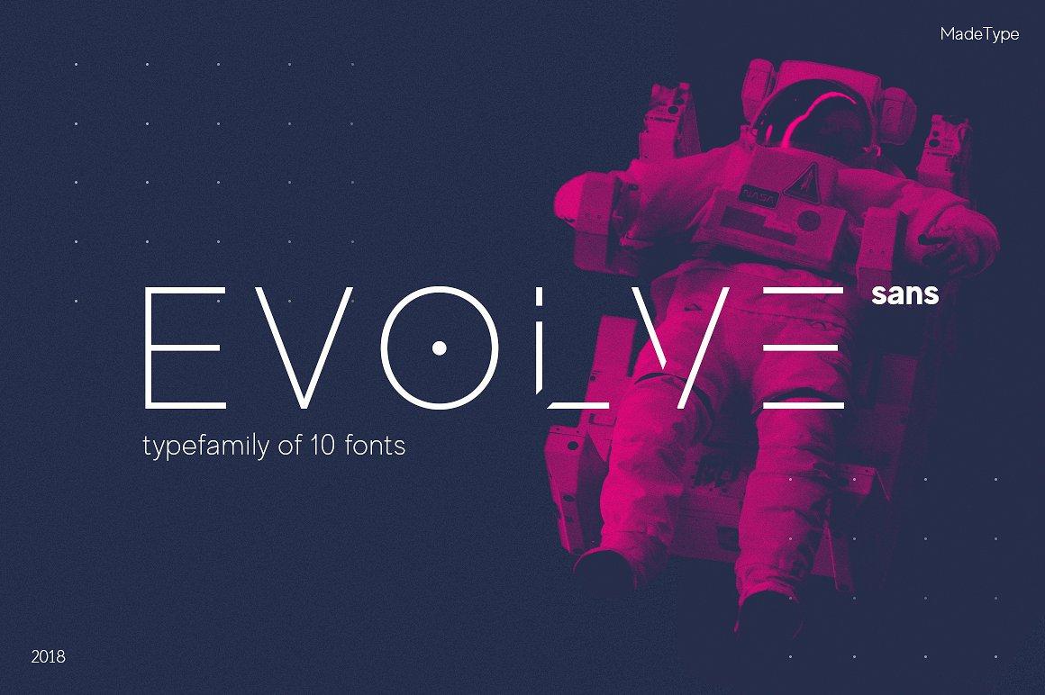 evolve sans futuristic font