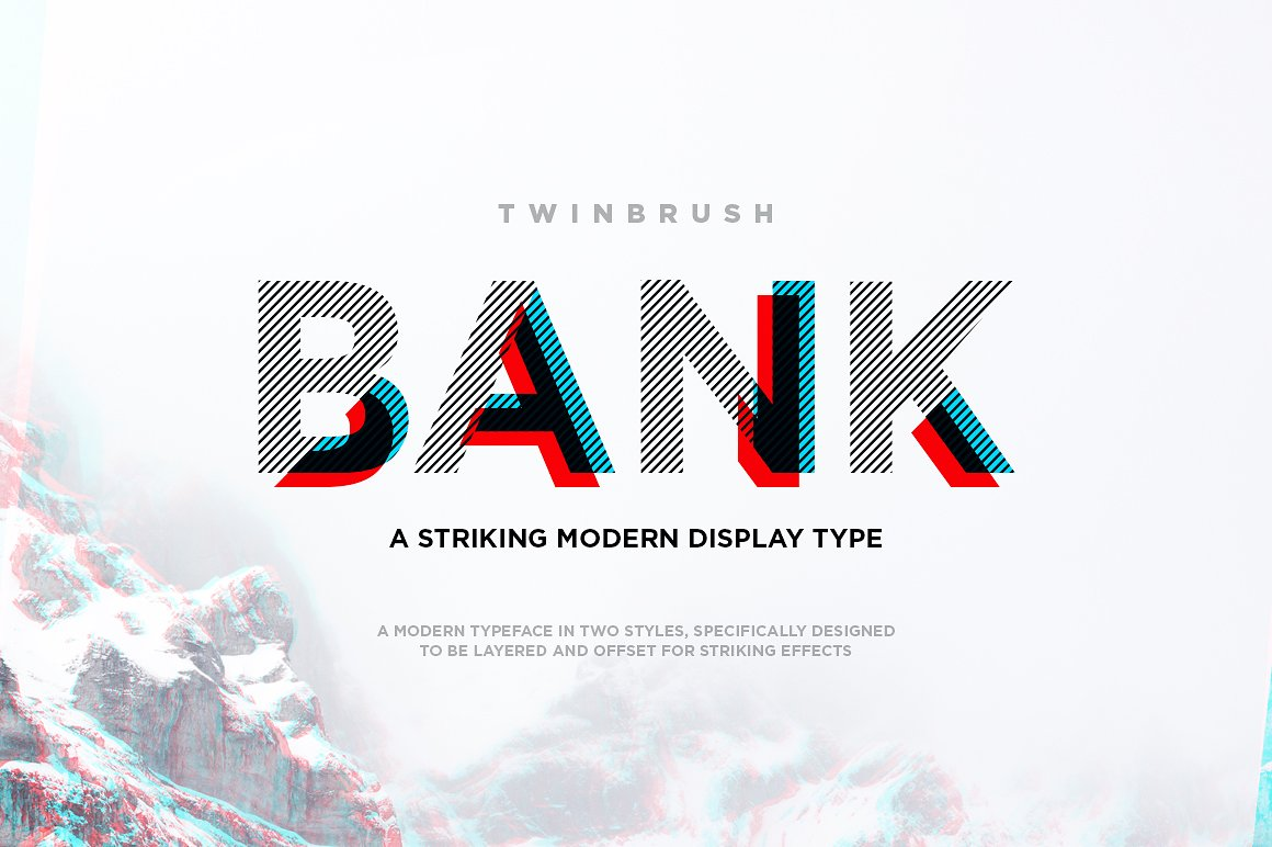 bank typeface design