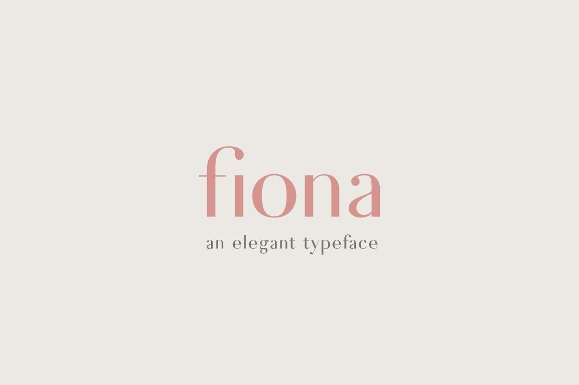 fiona elegant typeface